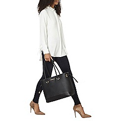 Dorothy Perkins - White longline tie side shirt
