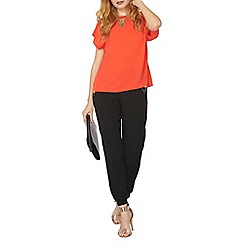 Dorothy Perkins - Red zip side t-shirt
