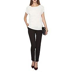Dorothy Perkins - Ivory zip side t-shirt