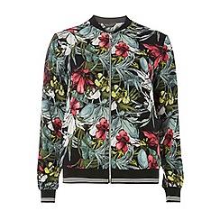 Dorothy Perkins - Black and pink floral bomber jacket