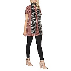 Dorothy Perkins - Red dogtooth pocket tunic
