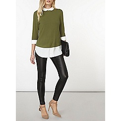 Dorothy Perkins - Green stab stitch 2-in-1 top