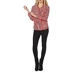 Dorothy Perkins - Red double pocket shirt
