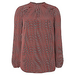 Dorothy Perkins - Tall red spot floral blouse
