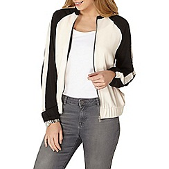 Dorothy Perkins - Blush panel bomber jacket