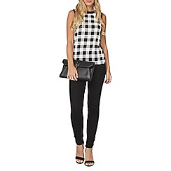 Dorothy Perkins - Black and white check top