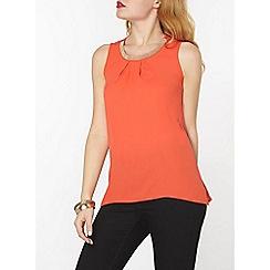 Dorothy Perkins - Orange embellished top