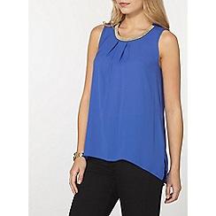 Dorothy Perkins - Blue embellished top