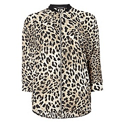 Dorothy Perkins - Animal print relaxed bomber jacket