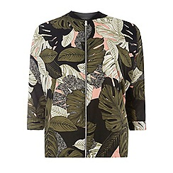 Dorothy Perkins - Tropical print relaxed bomber