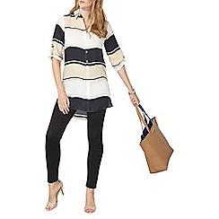 Dorothy Perkins - Blurred stripe longline shirt