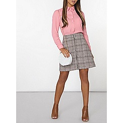 Dorothy Perkins - Pink stab stitch shirt