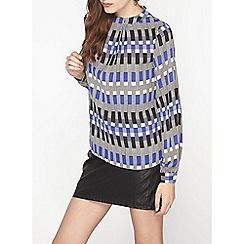 Dorothy Perkins - Geo pleat long sleeve top