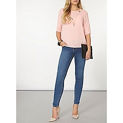Dorothy Perkins - Blush chain flute sleeve top