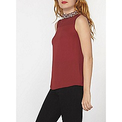 Dorothy Perkins - Berry high neck top