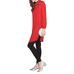 Dorothy Perkins - Red maxi split cover up