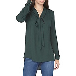Dorothy Perkins - Tall green pussybow blouse
