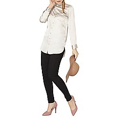 Dorothy Perkins - Oyster satin shirt