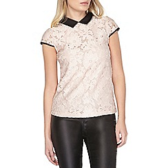 Dorothy Perkins - Blush daisy lace collar top