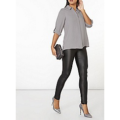 Dorothy Perkins - Grey button side shirt