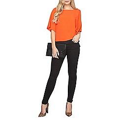 Dorothy Perkins - Orange bar front t-shirt