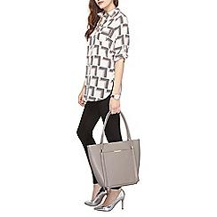 Dorothy Perkins - Ivory multi geo longline shirt