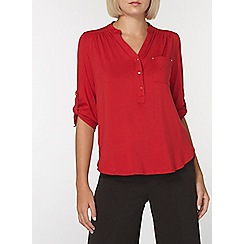 Dorothy Perkins - Red jersey shirt