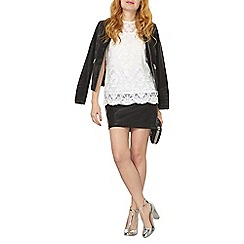 Dorothy Perkins - Ivory sequin lace top