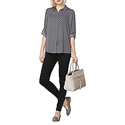 Dorothy Perkins - Grey spot button shirt