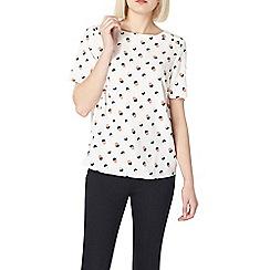 Dorothy Perkins - Ivory spot button shoulder t-shirt