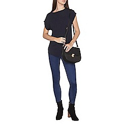 Dorothy Perkins - Navy zip back t-shirt
