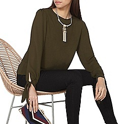 Dorothy Perkins - Green tie cuff top