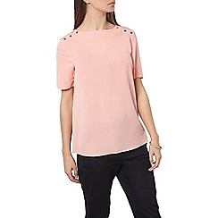 Dorothy Perkins - Blush button t-shirt
