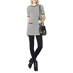 Dorothy Perkins - Grey animal bow tunic top