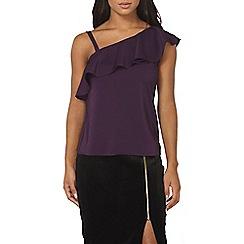 Dorothy Perkins - Purple one shoulder top