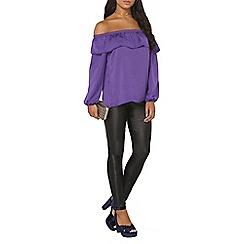 Dorothy Perkins - Purple ruffle bardot top