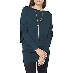 Dorothy Perkins - Green jersey batwing top