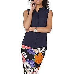Dorothy Perkins - Navy collar sleeveless shirt