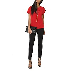 Dorothy Perkins - Red button side detail shirt