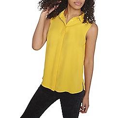 Dorothy Perkins - Ochre collar sleevless shirt