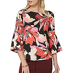 Dorothy Perkins - Pink floral graphic long sleeve top