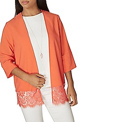 Dorothy Perkins - Orange lace hem cover up