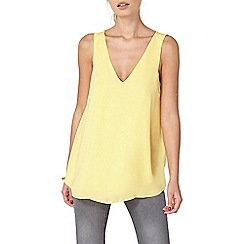 Dorothy Perkins - Yellow cross back built up top