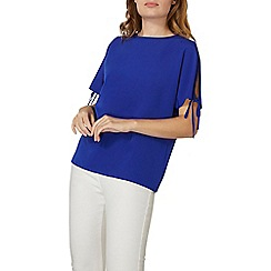 Dorothy Perkins - Cobalt tie cold shoulder top