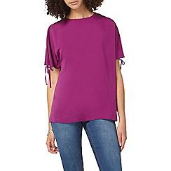 Dorothy Perkins - Tall purple cold shoulder t-shirt