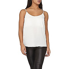 Dorothy Perkins - Ivory metal trim cami top