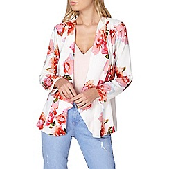 Dorothy Perkins - Ivory and pink floral cover up