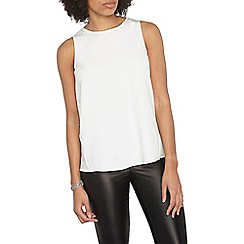 Dorothy Perkins - Ivory satin shell top