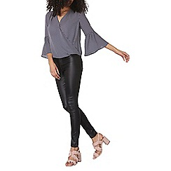 Dorothy Perkins - Spotted wrap flute top