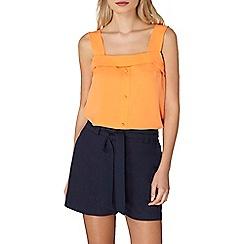 Dorothy Perkins - Orange foldover button cami top